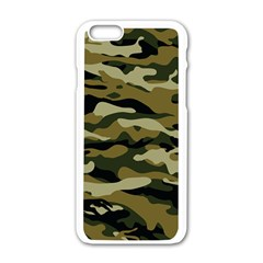 Military Vector Pattern Texture Apple iPhone 6/6S White Enamel Case