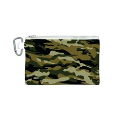Military Vector Pattern Texture Canvas Cosmetic Bag (S)