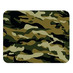 Military Vector Pattern Texture Double Sided Flano Blanket (Large)