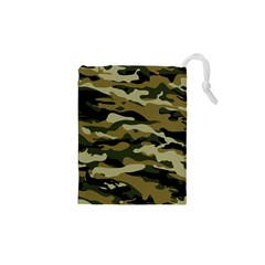 Military Vector Pattern Texture Drawstring Pouches (xs)