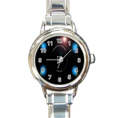 This Is An It Logo Round Italian Charm Watch