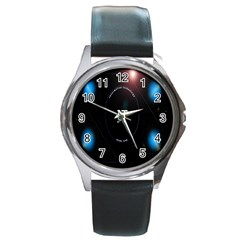 This Is An It Logo Round Metal Watch