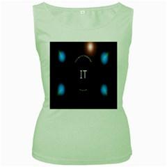 This Is An It Logo Women s Green Tank Top