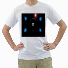 This Is An It Logo Men s T Shirt (white) (two Sided)