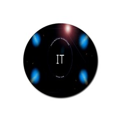 This Is An It Logo Rubber Coaster (round)