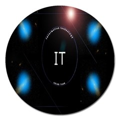 This Is An It Logo Magnet 5  (round)