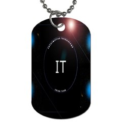 This Is An It Logo Dog Tag (One Side)