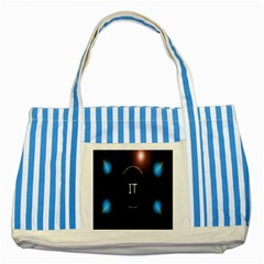 This Is An It Logo Striped Blue Tote Bag