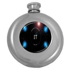 This Is An It Logo Round Hip Flask (5 oz)