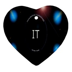 This Is An It Logo Heart Ornament (two Sides)