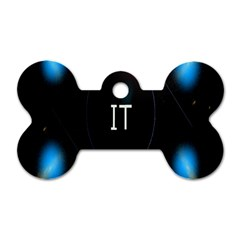 This Is An It Logo Dog Tag Bone (one Side)