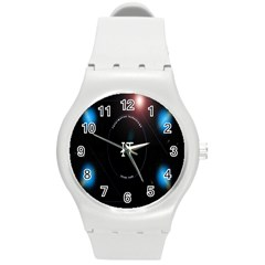 This Is An It Logo Round Plastic Sport Watch (M)