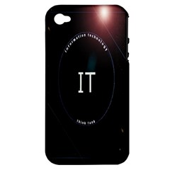 This Is An It Logo Apple Iphone 4/4s Hardshell Case (pc+silicone)