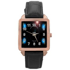 This Is An It Logo Rose Gold Leather Watch