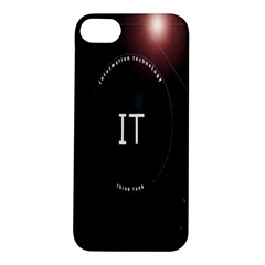 This Is An It Logo Apple iPhone 5S/ SE Hardshell Case