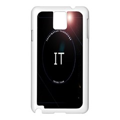 This Is An It Logo Samsung Galaxy Note 3 N9005 Case (White)