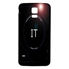 This Is An It Logo Samsung Galaxy S5 Back Case (White)