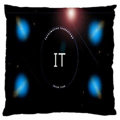 This Is An It Logo Large Flano Cushion Case (one Side)