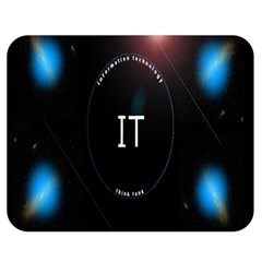 This Is An It Logo Double Sided Flano Blanket (Medium)