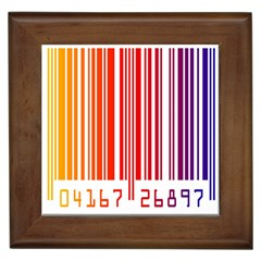 Colorful Gradient Barcode Framed Tiles