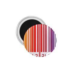 Colorful Gradient Barcode 1 75  Magnets