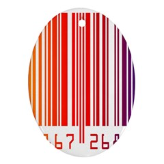 Colorful Gradient Barcode Ornament (Oval)