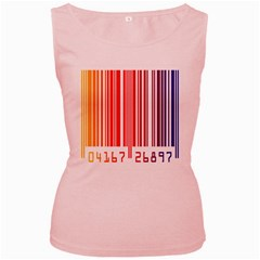 Colorful Gradient Barcode Women s Pink Tank Top