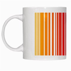 Colorful Gradient Barcode White Mugs