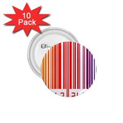 Colorful Gradient Barcode 1 75  Buttons (10 Pack)