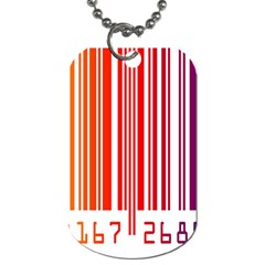 Colorful Gradient Barcode Dog Tag (one Side)