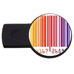 Colorful Gradient Barcode USB Flash Drive Round (2 GB)