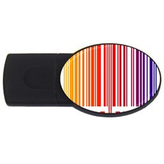 Colorful Gradient Barcode USB Flash Drive Oval (1 GB)