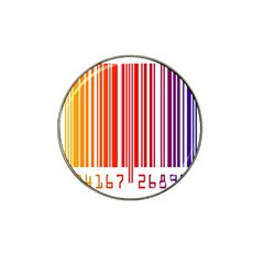 Colorful Gradient Barcode Hat Clip Ball Marker (10 pack)