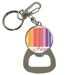 Colorful Gradient Barcode Button Necklaces
