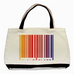 Colorful Gradient Barcode Basic Tote Bag
