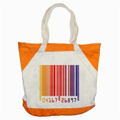 Colorful Gradient Barcode Accent Tote Bag