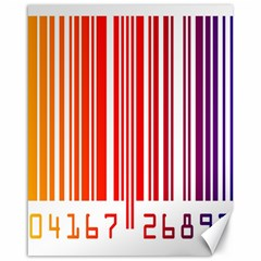 Colorful Gradient Barcode Canvas 16  X 20