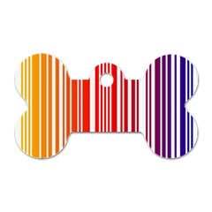 Colorful Gradient Barcode Dog Tag Bone (two Sides)