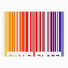 Colorful Gradient Barcode Large Glasses Cloth