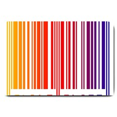 Colorful Gradient Barcode Large Doormat