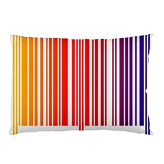Colorful Gradient Barcode Pillow Case