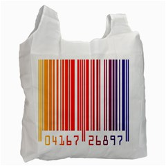 Colorful Gradient Barcode Recycle Bag (one Side)