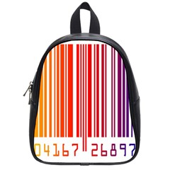 Colorful Gradient Barcode School Bags (small)