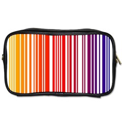 Colorful Gradient Barcode Toiletries Bags
