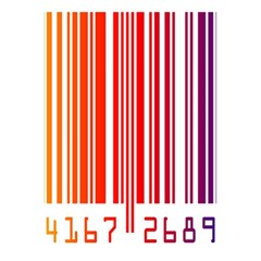 Colorful Gradient Barcode 5 5  X 8 5  Notebooks