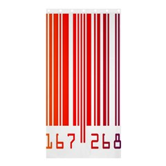 Colorful Gradient Barcode Shower Curtain 36  x 72  (Stall)