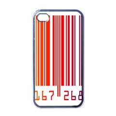 Colorful Gradient Barcode Apple Iphone 4 Case (black)