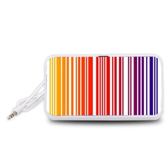 Colorful Gradient Barcode Portable Speaker (White)