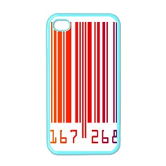 Colorful Gradient Barcode Apple iPhone 4 Case (Color)