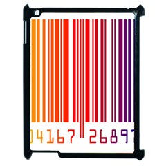 Colorful Gradient Barcode Apple iPad 2 Case (Black)